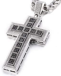croix Rosaire brun gris Chaîne Croix Chaîne messieurs Chaîne
