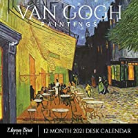"Van Gogh Paintings 2021 Desk Calendar: Famous Art, 8.5"" x 8.5"", 12 Month Calendar Planner for Home, Work, Office Gift"