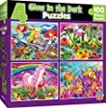 Glow in The Dark - 4 Pack 100Pc Puzzles