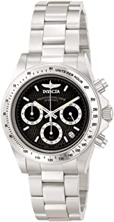 Invicta 9223 Speedway Unisex Wrist Watch Stainless Steel Quartz Black Dial