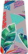 Tropische kleurrijke bladeren antislip yogamat - milieuvriendelijke TPE dikke fitnessoefenmatten ideaal voor pilates, yoga...