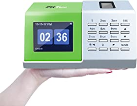 $109 Get ZKTeco CT20 Fingerprint Time Attendance Machine Biometric Time Clock for Employee Small Business Time-Tracking Recorder Without Installation.
