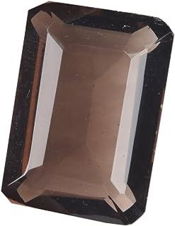 Top topacio ahumado de 54.50 ct topacio talla esmeralda, piedra preciosa topacio marrón birthstone noviembre BQ-476