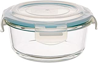 Neoflam Cloc Round Glass Food Container (620 ml, 14.9 x 6.2 cm)