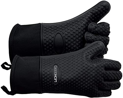 GEEKHOM-Grilling-Gloves,-Heat-Resistant-Gloves-BBQ-Kitchen-Silicone-Oven-Mitts