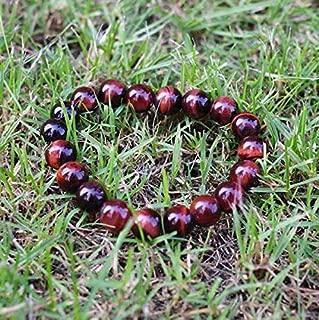 Red Tiger Eye Beads Bracelet Men's Fashion Natural Stone Charm Bracelet Handmade DIY Jewelry Bracelet Pour Homme