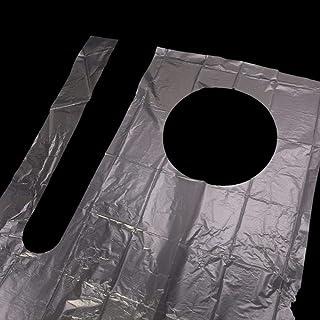 100PCS VLOU 100PCS Espesar Delantal desechable Envasado Individualmente pl/ástico Adulto Impermeable///Cocina peluquer/ía Barbacoa Uso de Fiesta de Hornear Transparente