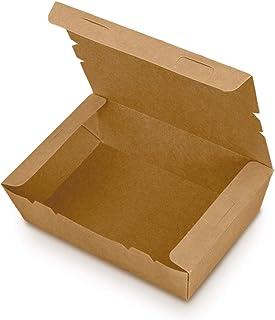 Jumi - Caja Take Away 700 ML - Kraft 350 gr - Pack 50 Unidades - Vajilla Eco Take Away - Sostenible KF0402