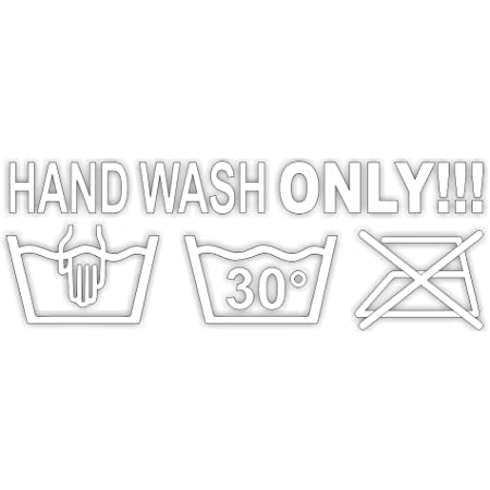 Stick Drauf Hand Wash Only Various Sizes And Colours Car Sticker Decal Decal Sticker Car Car Motorcycle Bike Scooter Bike Decoration Tuning Stickerbomb Styling Wrapping Auto