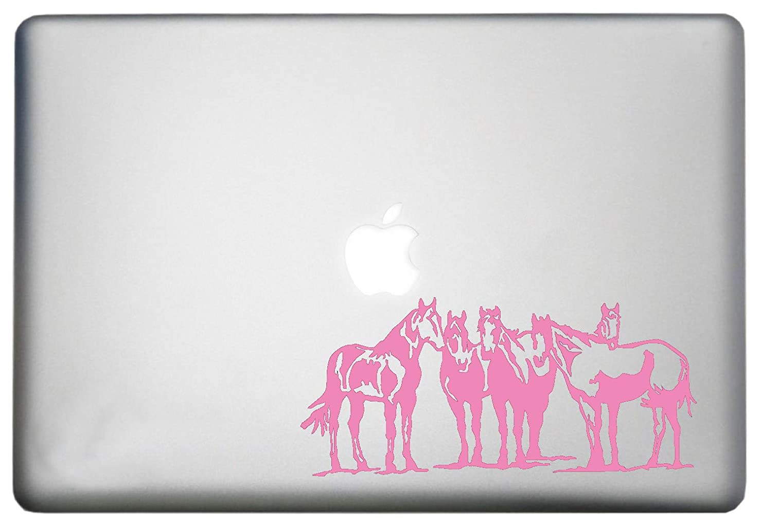 Horse MacBook Pro Silhouette Sticker Decoration Vinyl Decal is a Wild Spirit Horses Design Laptop Sticker. Laptop Sizes 11, 12, 13 and 15 inch. Many Colors-Soft Pink