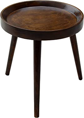 The Urban Store Hand Crafted Three Legged Wooden Medium Sized Decorative Centre Table/Accent Table/End Table/Night Stand Tabl