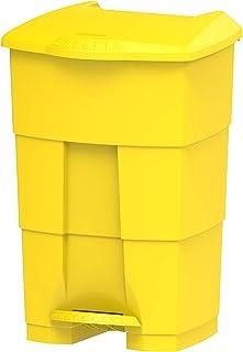 Cosmoplast Plastic Step On Waste Bin 45 Liter - Yellow