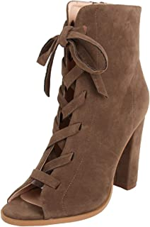 Catwalk Women's Lace Up Peep Toe Booties