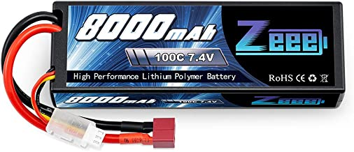 Zeee Lipo Battery 7.4V 100C 8000mAh Hard Case with Deans T Plug for RC Car RC Truck RC..