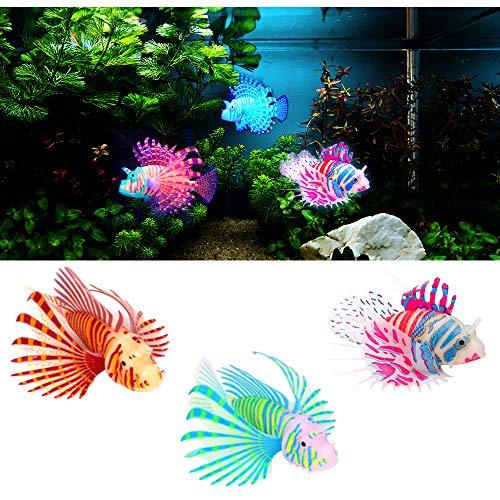 MA Keleily Deko Fische Plastik 3Stck Aquarium Fische Künstlich Lebensechtes Deko Fisches Leuchtendes Fischspielzeug Bewegliche Schwimmende Fischverzierung für Aquariumdekoration, Aquariumlandschaft