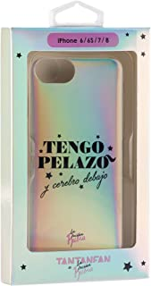 La Vecina Rubia TFCAR058 Funda Smartphone - Plateada y Compatible con Apple iPhone 7/8, Serigrafiado