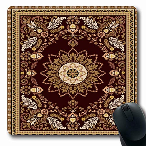 Mousepad Oblong Silber Persian Fliesen Mosaik Teppich Rand Muster Abstrakt Oriental Stempel Decke Keramik Zertifikat Rutschfeste Gummi Mauspad Büro Computer Computer Laptop Spielmatte