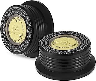 Noir Baoblaze Diam/ètre De Niveau /à Bulle Surface De Mesure pour Platine Disque Cas Daluminium