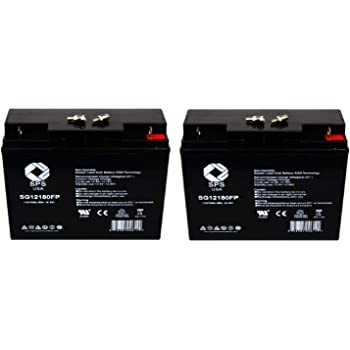 Replacement Battery Solar Truck Pac ES1224 Jump Starter 12V 22AH Jump Starter Battery SPS Brand 2 Pack