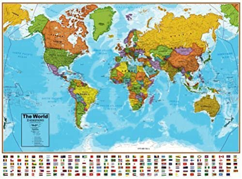tomamos a los clientes como nuestro dios Hemisphere Hemisphere Hemisphere azul Ocean World and USA Wall Map Set by Hemisphere  Felices compras