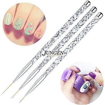 JUNGEN 3pcs Kit de decoracion de uñas Cepillo de detalle de uñas ...