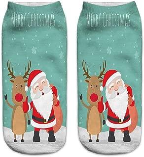 GUTTEAR Socks, Christmas 3D Printed Socks Cartoon Socks Casual Cotton Funny Low Cut Socks