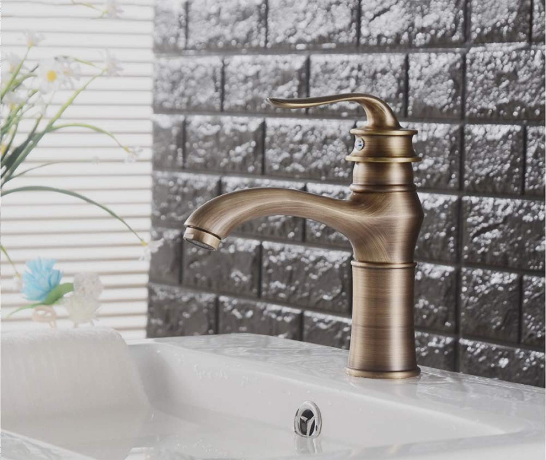 ZHAOSHOP Antique lamp Faucet European Retro Copper Basin Faucet hot and Cold Dual-use Mixer