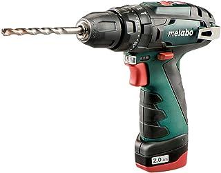 Metabo 600385500 PowerMaxx SB 10.8v Li-ion Combi Drill Keyless Chuck and 2 x 2.0Ah, 110 V, Green