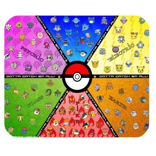 LeonardCustom- gepersonaliseerde rechthoek anti-slip rubber muismat Gaming muismat/mat Anime Pokemon Pikachu -LCMPV926