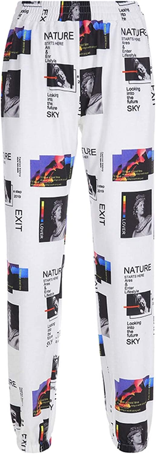 LZZSWDT European and American Style Summer Street Style Fashion Women's Casual Y2k Fashion Oil Painting Printing Contrast Sweater Casual Pants Harem Pants