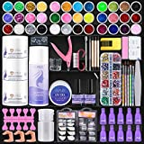 CURKEY 119 in 1 Acrylic Nail Kit - 36 Colors Nail Glitter Acrylic Powder and Liquid Set for Beginner with Nail Art Tools - Nail Kit Set Professional Acrylic with Everything for Nails Supplies