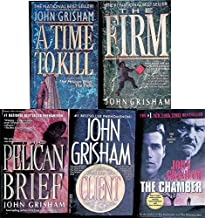 Set Of 5 John Grisham Novels: A Time To Kill, The Firm, Pelican Brief , The Client, The Chamber