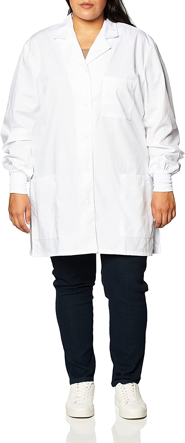 """Cherokee Women's Scrubs 32"""" Cuffed Sleeve Lab Coat: Medical Lab Coats: Clothing, Shoes & Jewelry"""