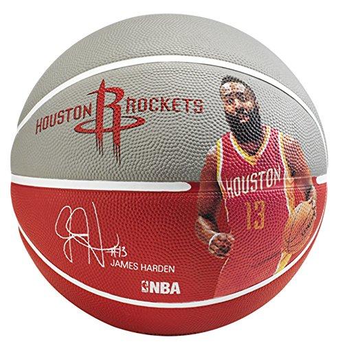 Spalding NBA Player James Harden Sz.7 83-347Z Balón de Baloncesto, Unisex, Gris/Rojo, 7