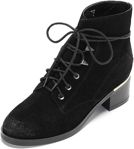 Stiefel de damen de Martin Stiefel de invierno de la personalidad de ante ( Farbe   schwarz , Tamaño   US 6\UK 5\EUR 37 )