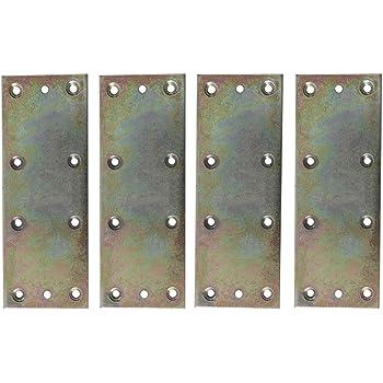sourcing map Staffa Angolare Metallo Angolo Fissaggio L Forma Staffe ad Angolo Retto Angolo Protezione Scaffale Supporto per Scrivania Mobile 2 pezzi 100x25mm