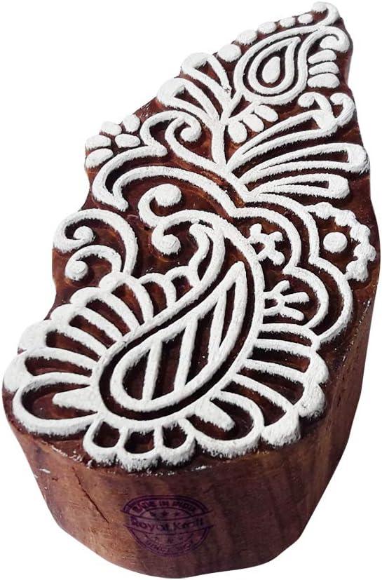 Henna Detroit Mall Print Stamps Paisley Motif Wood Purchase Blocks DIY Fabric -