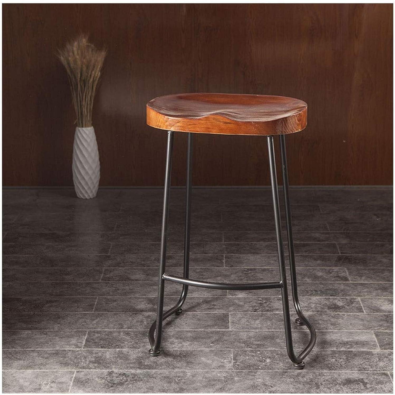 Bar Chair Cafe Bar Chair Iron Hose Bar Table Solid Wood Vintage Stool Bar Stools Counter Height 0520BAR