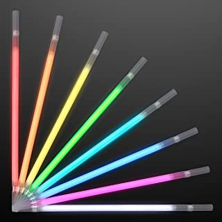 FlashingBlinkyLights Assorted Color Glow Stick Drinking Straws (Set of 25)