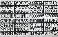【レターボード専用 フォントセット/ブラック 188文字(アルファベット、数字、記号)】カフェメニュー メッセージボード 案内看板 メニューボード カフェ バー ガレージ アメリカン雑貨 アメリカ雑貨 看板