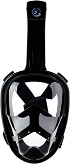 Wanderin Free Panoramic 180° View Snorkel mask with Full face Anti-Fog, Anti-Leak, Easy Breathe Design for Adults and Child