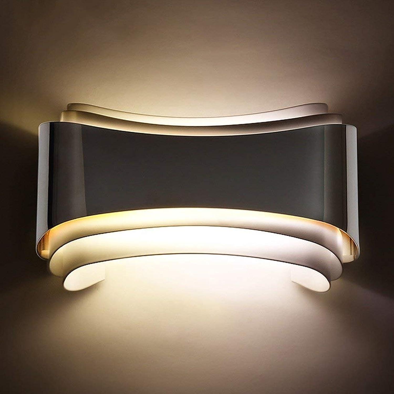 JU Einfache Kreative Led Nachttischlampe Rechteckige Mode Persönlichkeit Wandleuchte Eisen Eisen Eisen Schlafzimmer Gang Treppenlaternen B07FZTG2WQ   Creative  ae6739