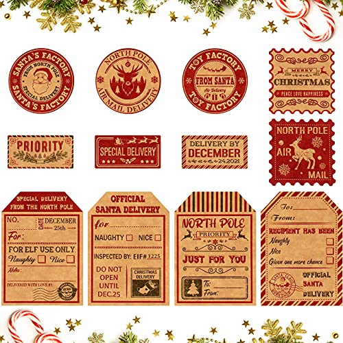 Etiquetas Navidad Nombre Marca Outus