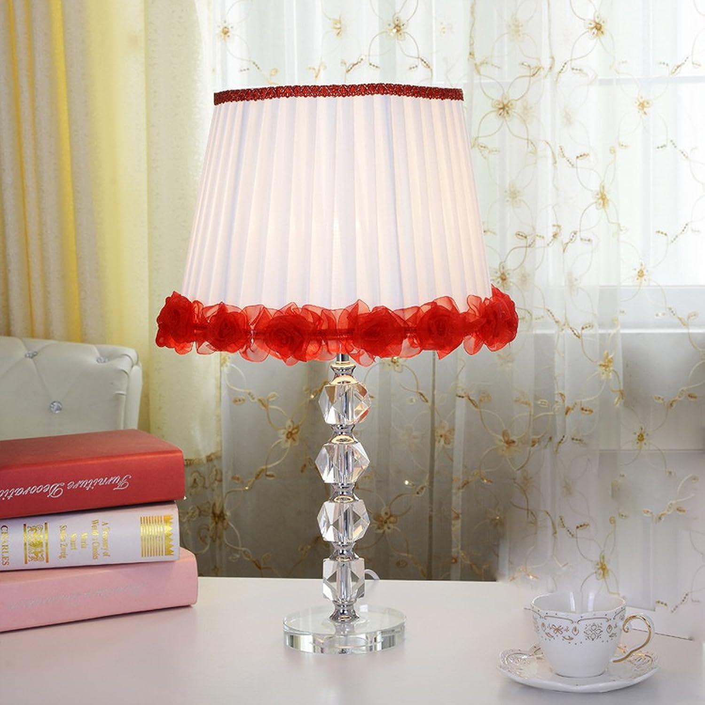 Im Europäischen Europäischen Europäischen Stil Garten Kristall Dekoration Hochzeit Cloth Tischlampe,rot B01NBB8E23     | Ausgezeichnete Qualität  b3d11d