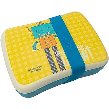 Various Fiambrera,Lonchera Infantil,Fibra de Bambú,Conjunto Sandwichera de bambú.Ideal para Infantil niños y bebé,Material ecológico sin BPA, Apto para lavavajilla-Robot: Amazon.es: Juguetes y juegos