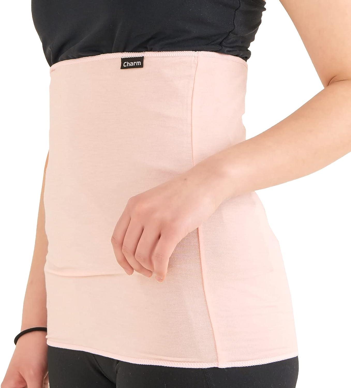 CHARM Stomach Wrap Japanese Haramaki - Mens Belly Warmer Womens Postpartum & Maternity Belt