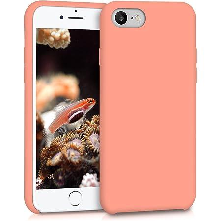 kwmobile Coque pour Apple iPhone 7/8 / Se (2020) - Coque Étui Silicone - Housse de téléphone Corail
