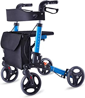 DHINGM Old-Age Trolleys Can be Used, Old-Age Shopping Carts Buy Food Walkers, Folding Walkers are Made of Sturdy and Lightweight Aluminum, Waterproof, Washable