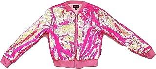 Girls JoJo Siwa Hot Pink Sequin Bomber Jacket
