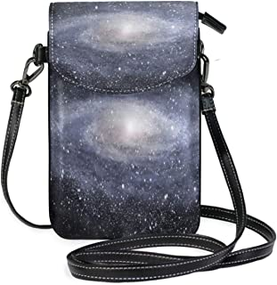 Women Small Crossbody Shoulder BagNASA Galaxy Milky Way For Home Leather Cell Phone Purse Wallet